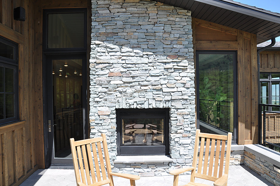 Water Mill Outdoor Fireplace