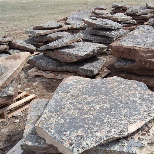 Montana Moss Rock Hearths, Mantels & Slabs