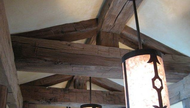 reclaimed wood - beams